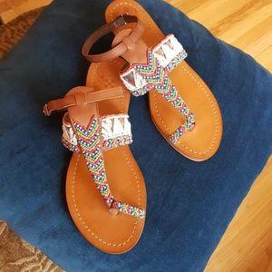 NWOB Vince Camuto Malda Beaded Toe Ring Sandal